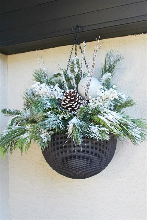 Diy Hanging Christmas Planter Instructions